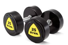 ZVO Urethane High Gloss Dumbbell 20kg - yellow