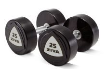 SL Solid Steel Virgin Rubber Dumbbell 20 kg-white